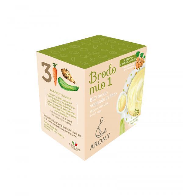 Brodo mio 1, BIO brodo vegetale in filtro Aromy lato