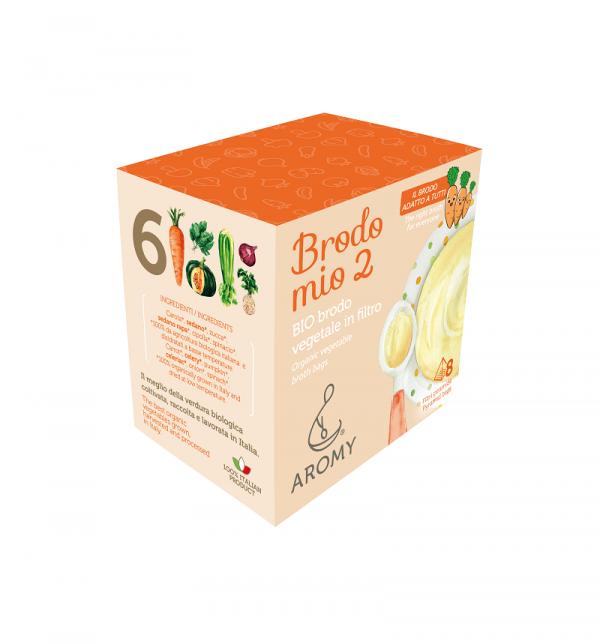 Brodo mio 2, BIO brodo vegetale in filtro Aromy lato