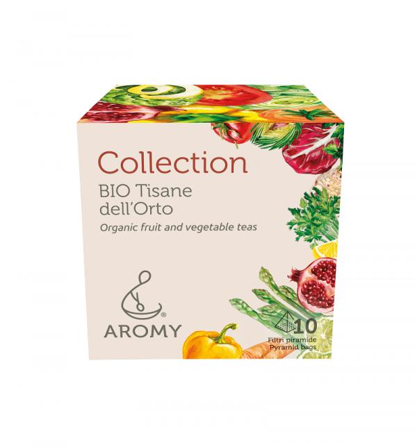 Collection tisane biologiche di verdure Aromy fronte