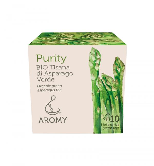 Tisana di asparago biologico PURITY Aromy fronte