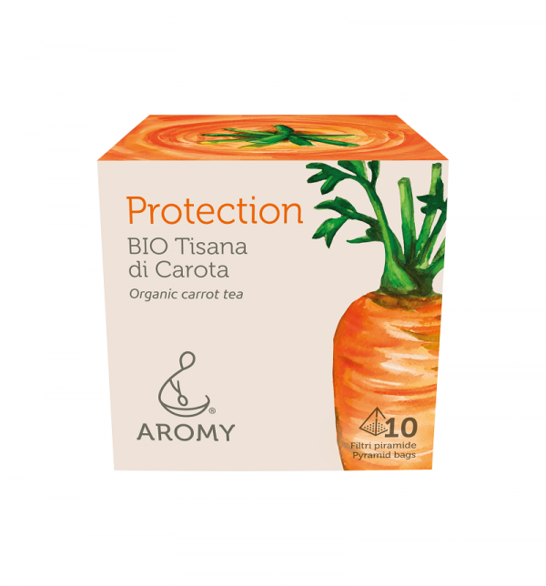 Tisana di carota biologica PROTECTION Aromy fronte