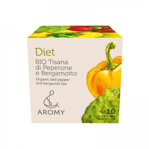 Tisana di peperone e bergamotto biologico DIET fronte