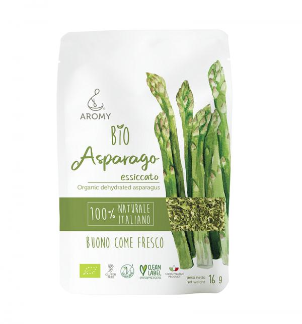 Asparago verde biologico disidratato Aromy fronte